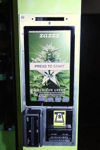 ZaZZZ marjiuana dispensary machine in Colorado