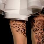 tattoo tights marchesa
