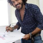 Convivio a Milano capi in svendita per lotta ad Aids Francesco Renga
