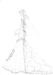 Elisabetta-Canalis-bozzetto-abito