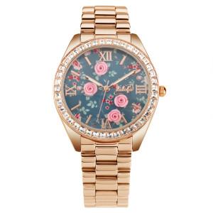 orologio didofà acciaio con rose