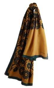 Foulard Burberry in seta pura decorato a mano