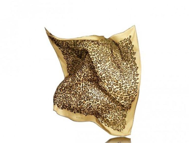 Foulard Gucci in stampa giaguaro