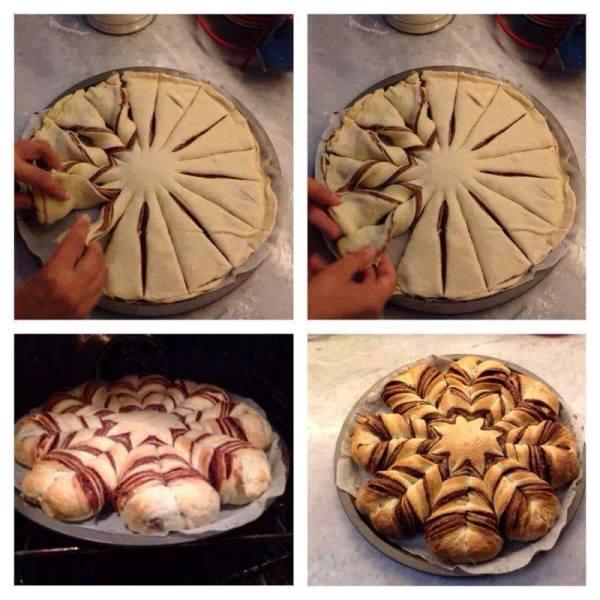 Ricetta Stella Di Natale.La Stella Di Natale Con Pane E Nutella Video
