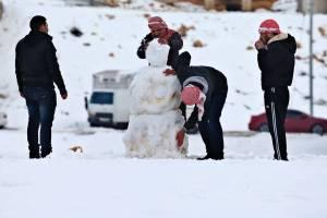 Il Medio Oriente è stata interessato da un'abbondante nevicata