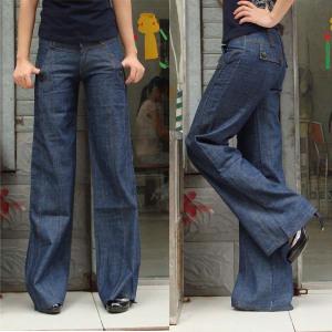 Free-shipping-women-jeans-female-pants-wide-leg-casual-jeans-loose-plus-size-women-s-trousers