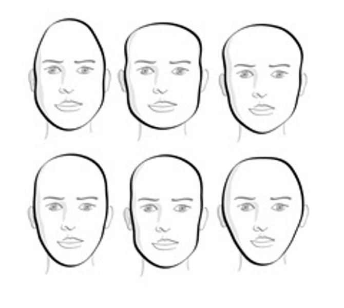 Capelli corti viso allungato uomo