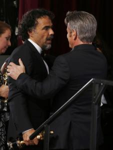 La Presse/Reuters Sean Penn con il regista Alejandro G. Inarritu