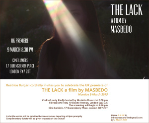 MASBEDO The Lack - UK Premiere 9.3.2015 (1)