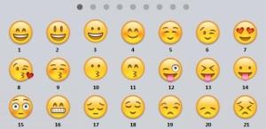 emoticons numerate