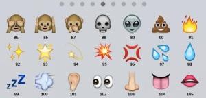 emoticons numerate 5