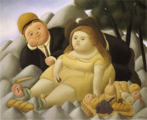 Picnic in the mountains- Botero