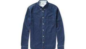 Camicia di Jeans blu Acne