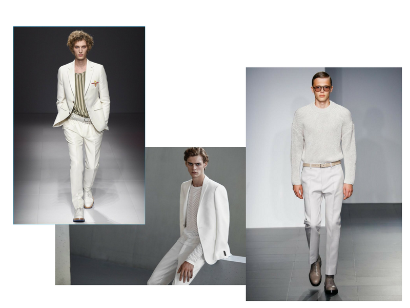 Per la moda estiva maschile il bianco si adatta sia per il giorno che per  la sera. Dall abito classico con giacca a due bottoni al doppio petto da  portare ... 5af163803ea